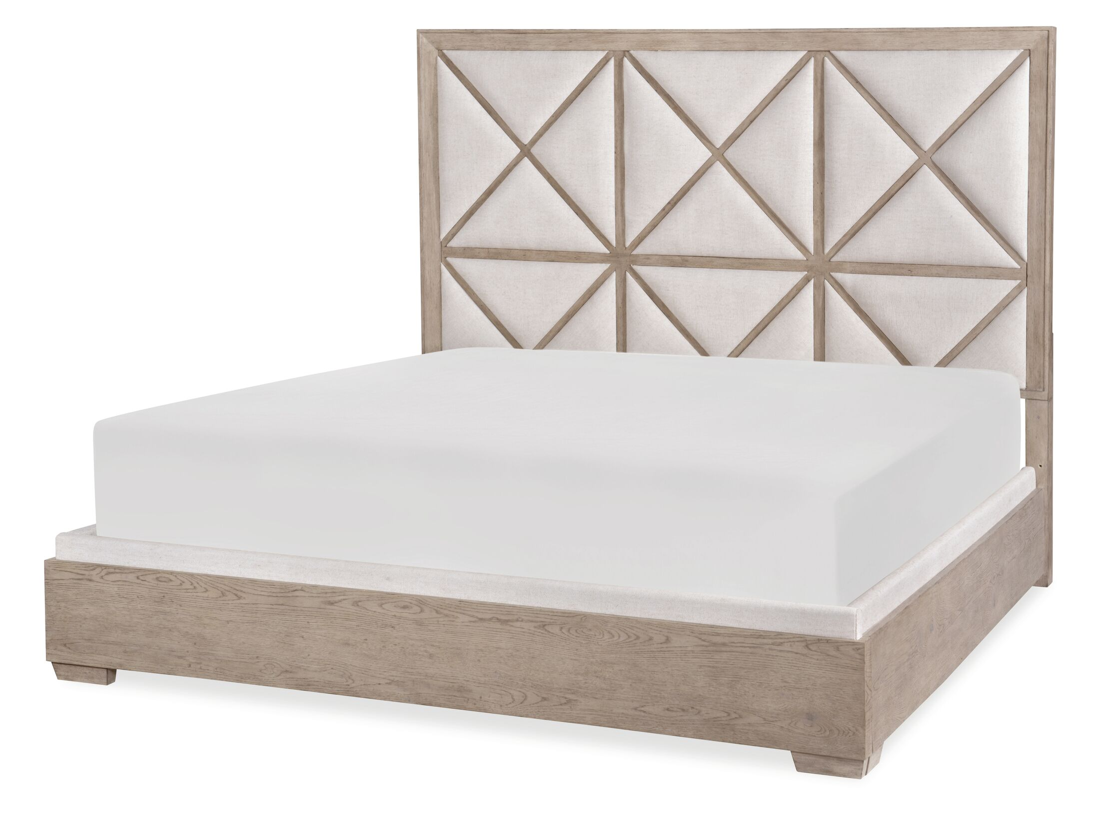Amina Upholstered Panel Bed