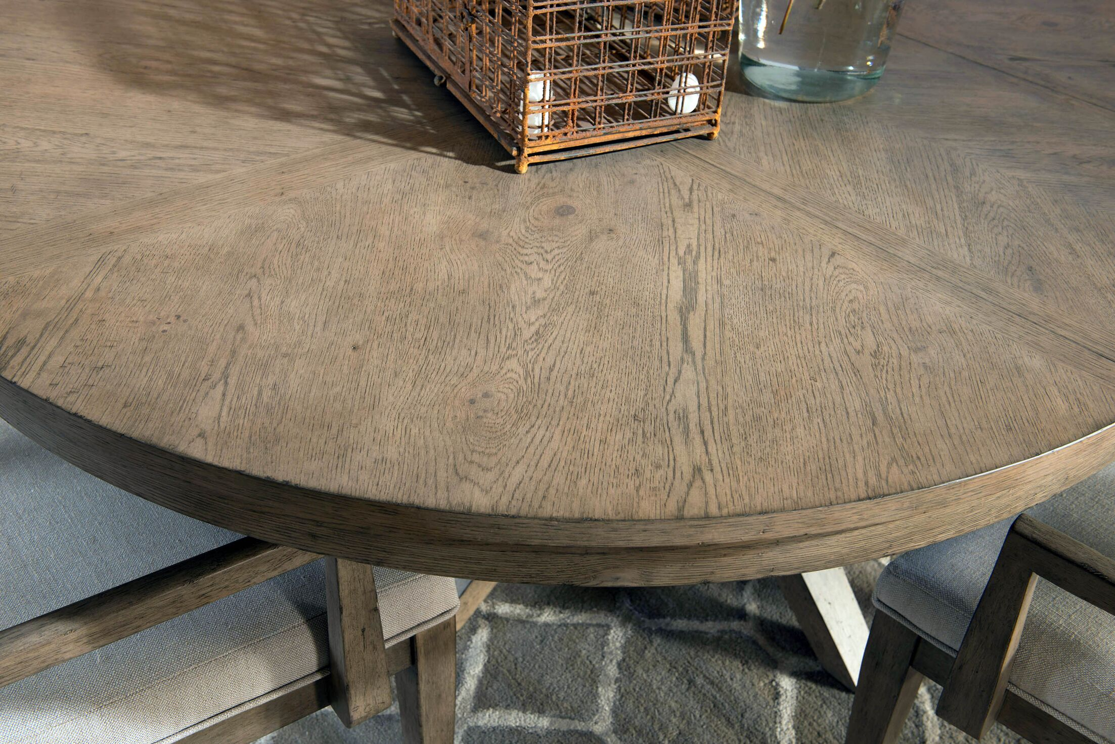 Amina Complete Round Leg Dining Table