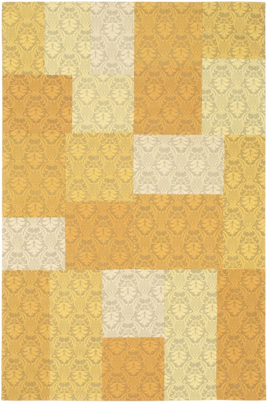 Collage Yellow / Gold Patchwork Area Rug