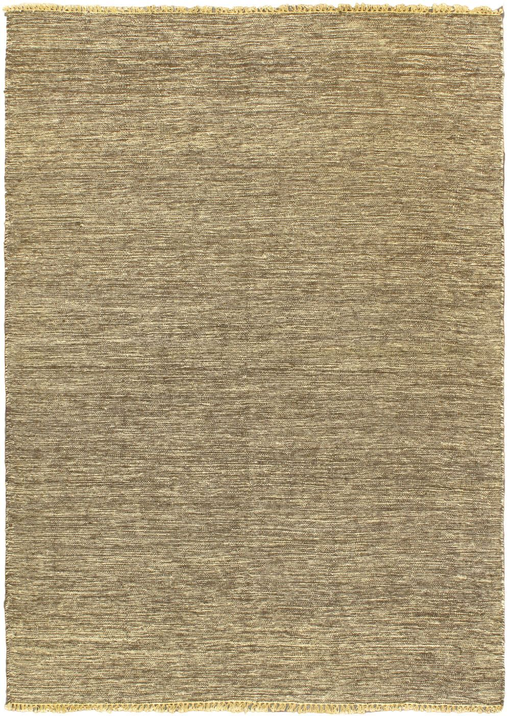 Natural Open Field Dark Brown Area Rug Rug Size: 4'7