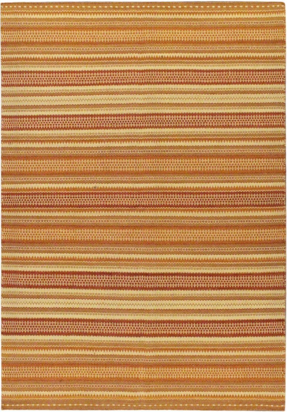 Jalal Tuareg Brown/Orange Abstract Area Rug