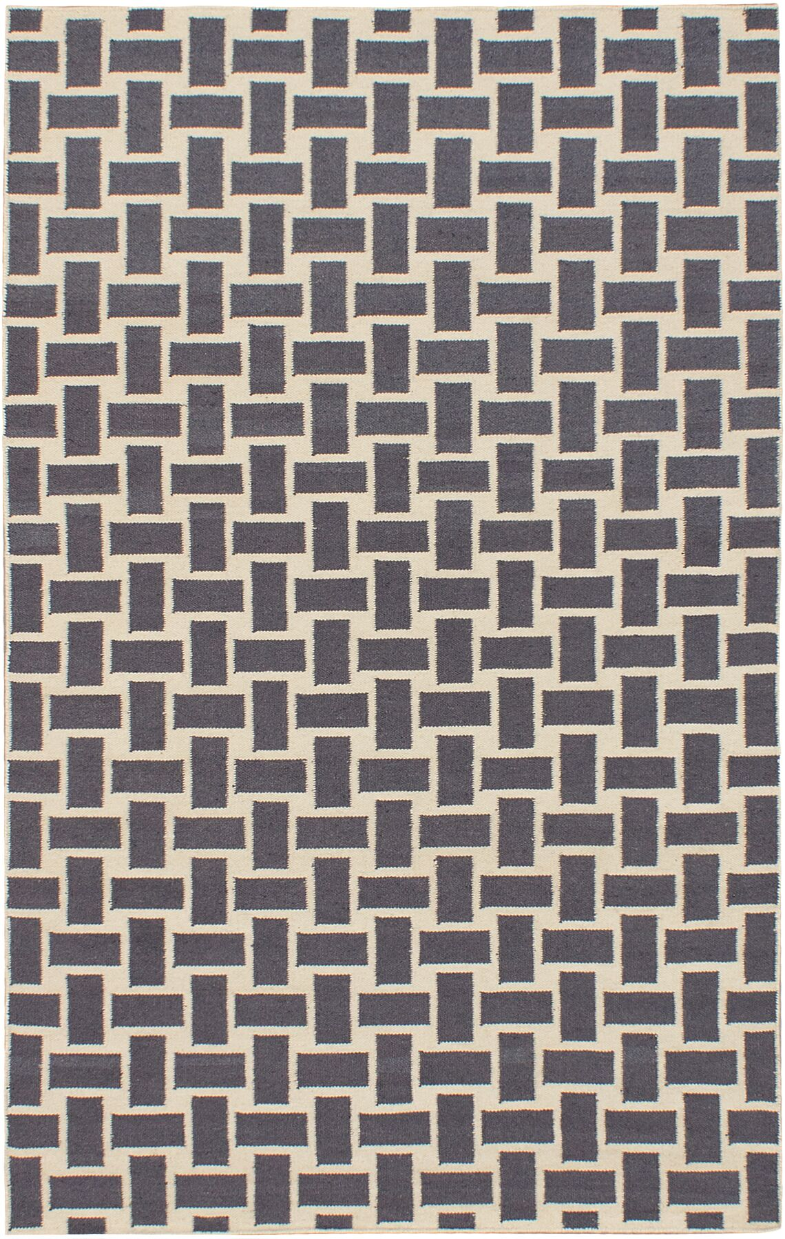 Elani Cream/Dark Gray Geometric Rug Rug Size: 5' x 8'