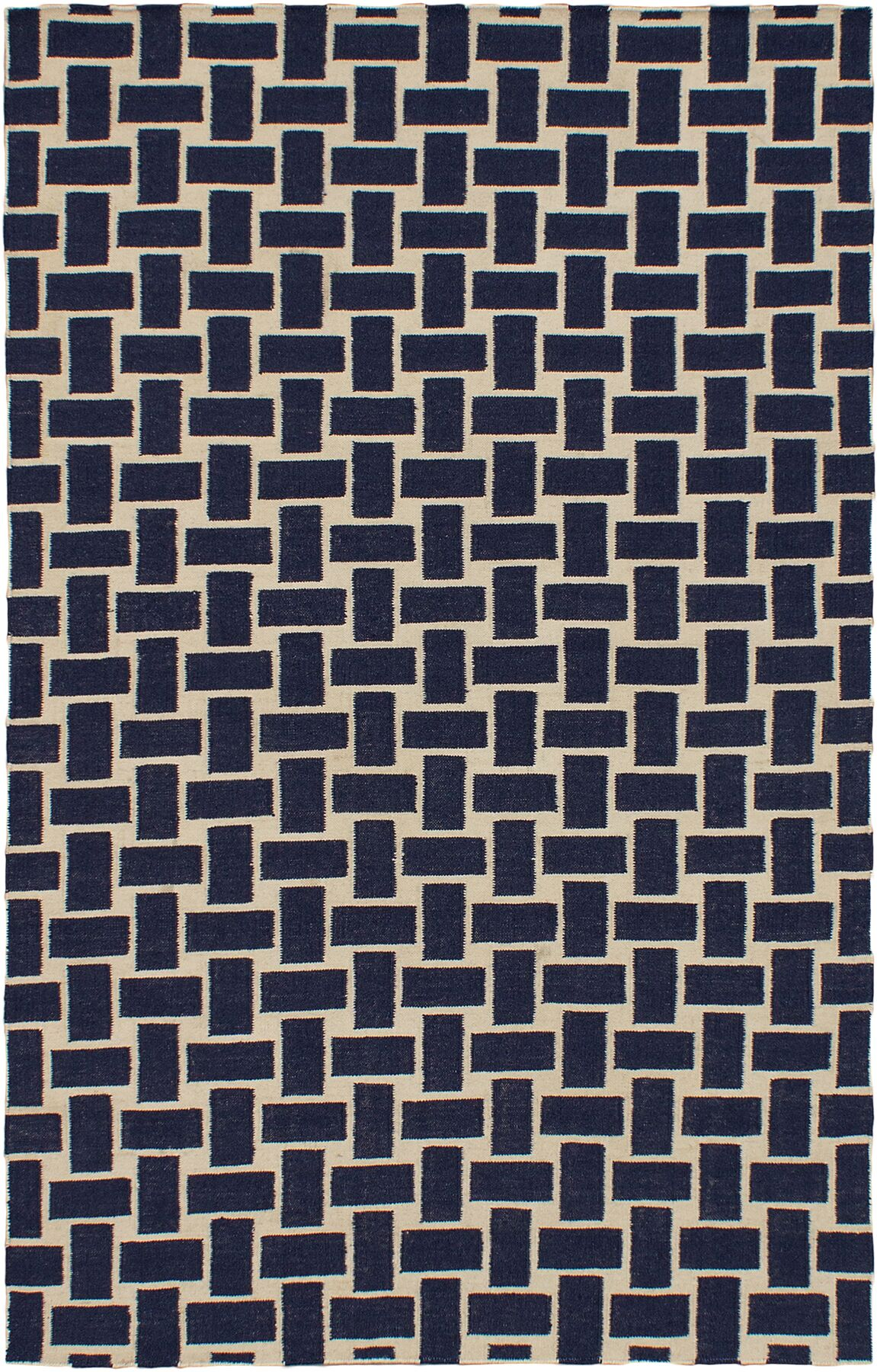 Elani Cream/Navy Geometric Rug