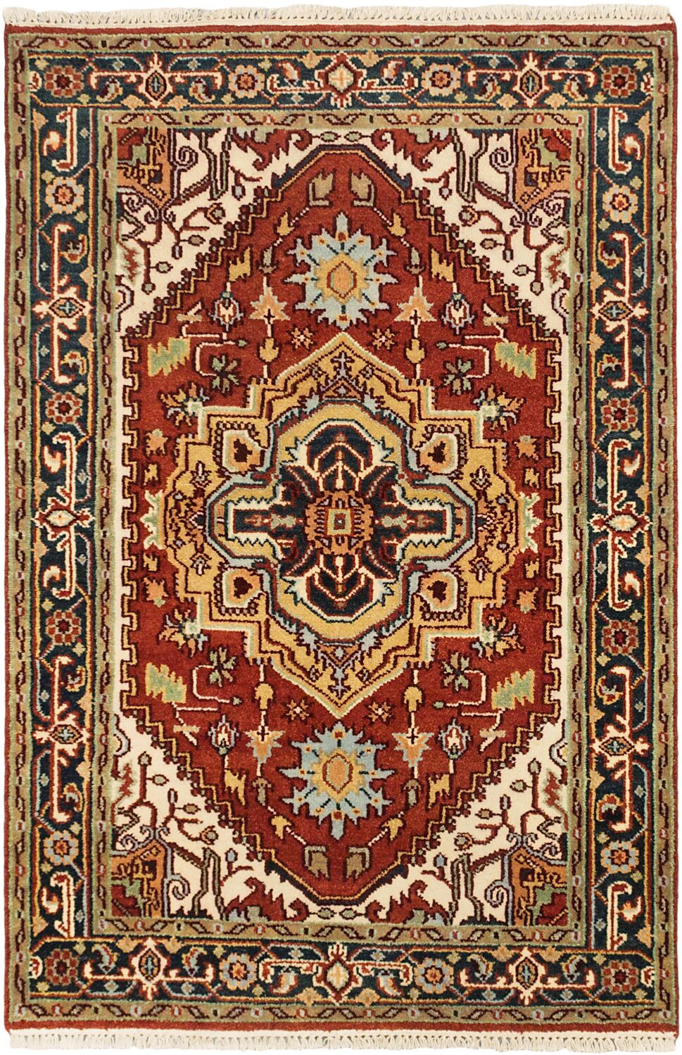 Baldry Hand-Knotted Dark Copper Area Rug Rug Size: 4' x 6'1
