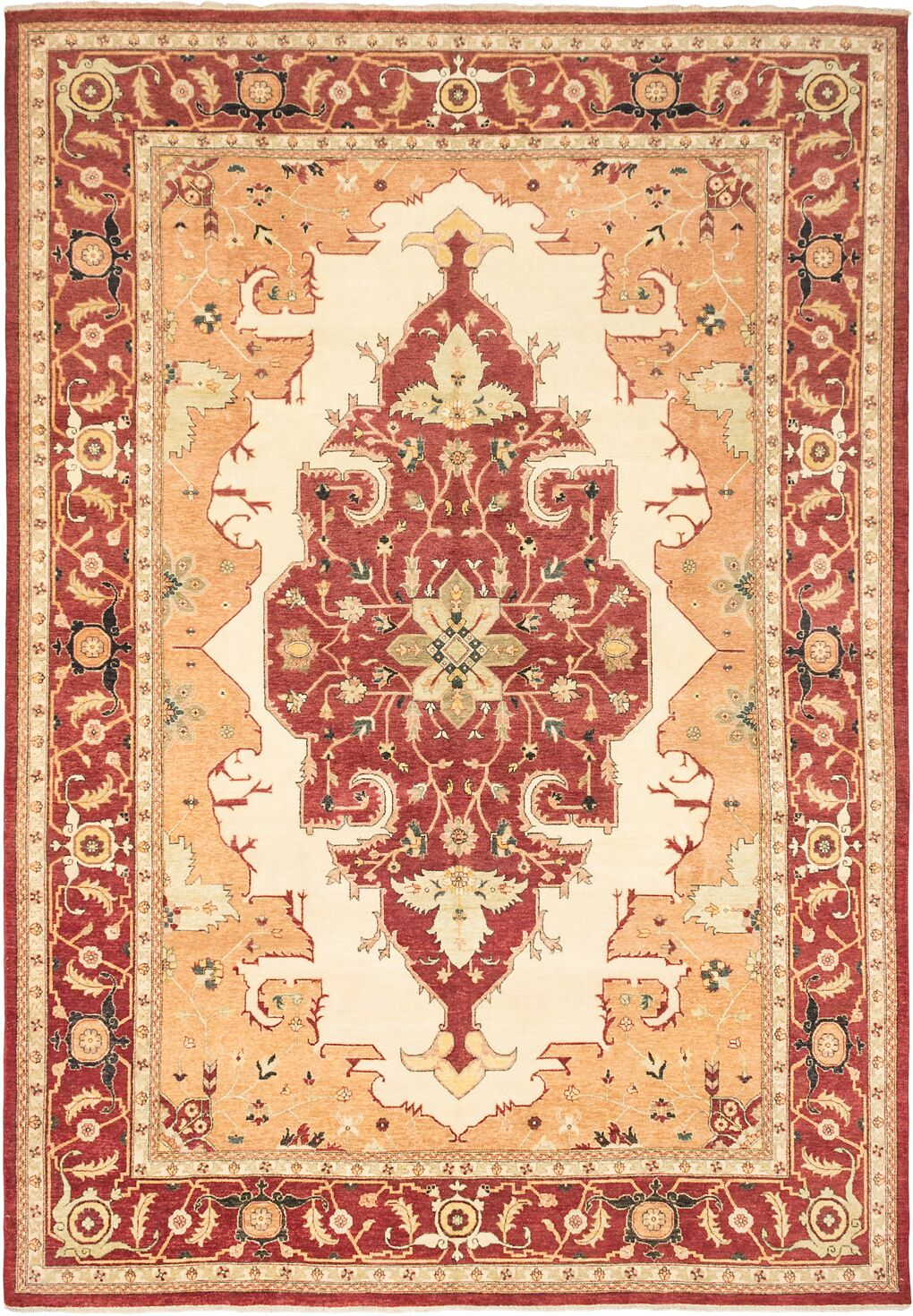 Baldry Hand-Knotted Wool Cream Area Rug