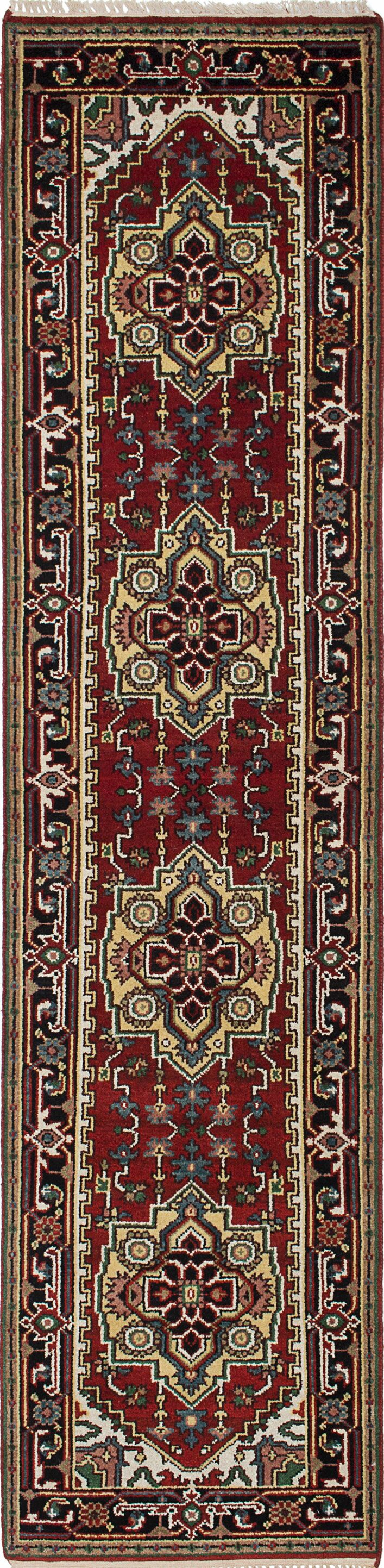 One-of-a-Kind Doerr Hand-Knotted Red/Yellow Area Rug