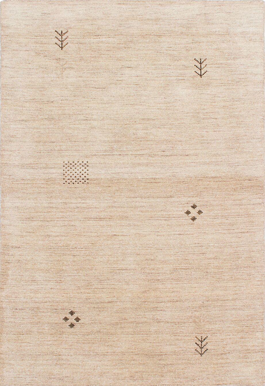 Campos Hand-Woven Cream Area Rug Rug Size: 4' x 5'11
