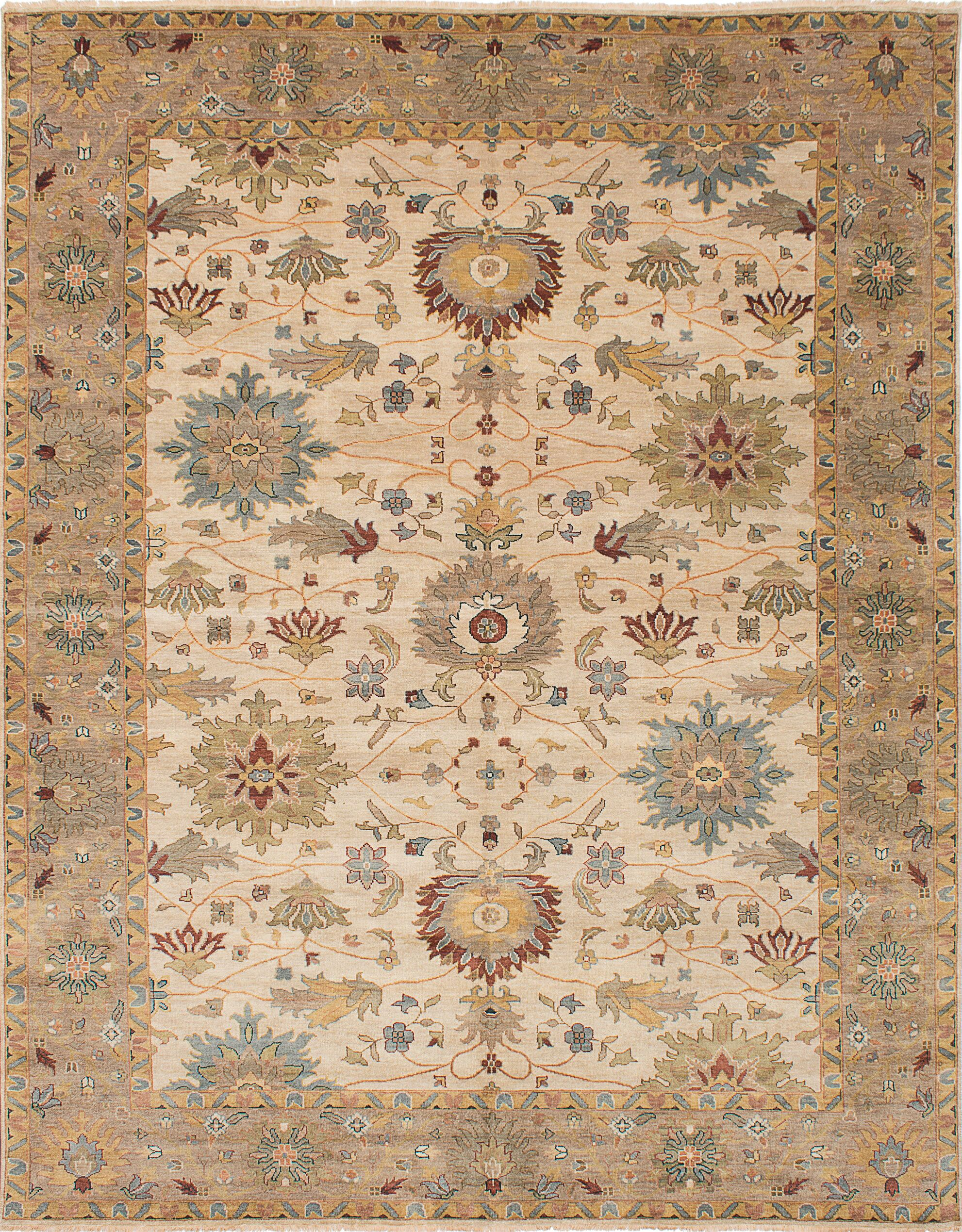 Bassford Hand-Woven Ivory Area Rug Rug Size: 9' x 11'8