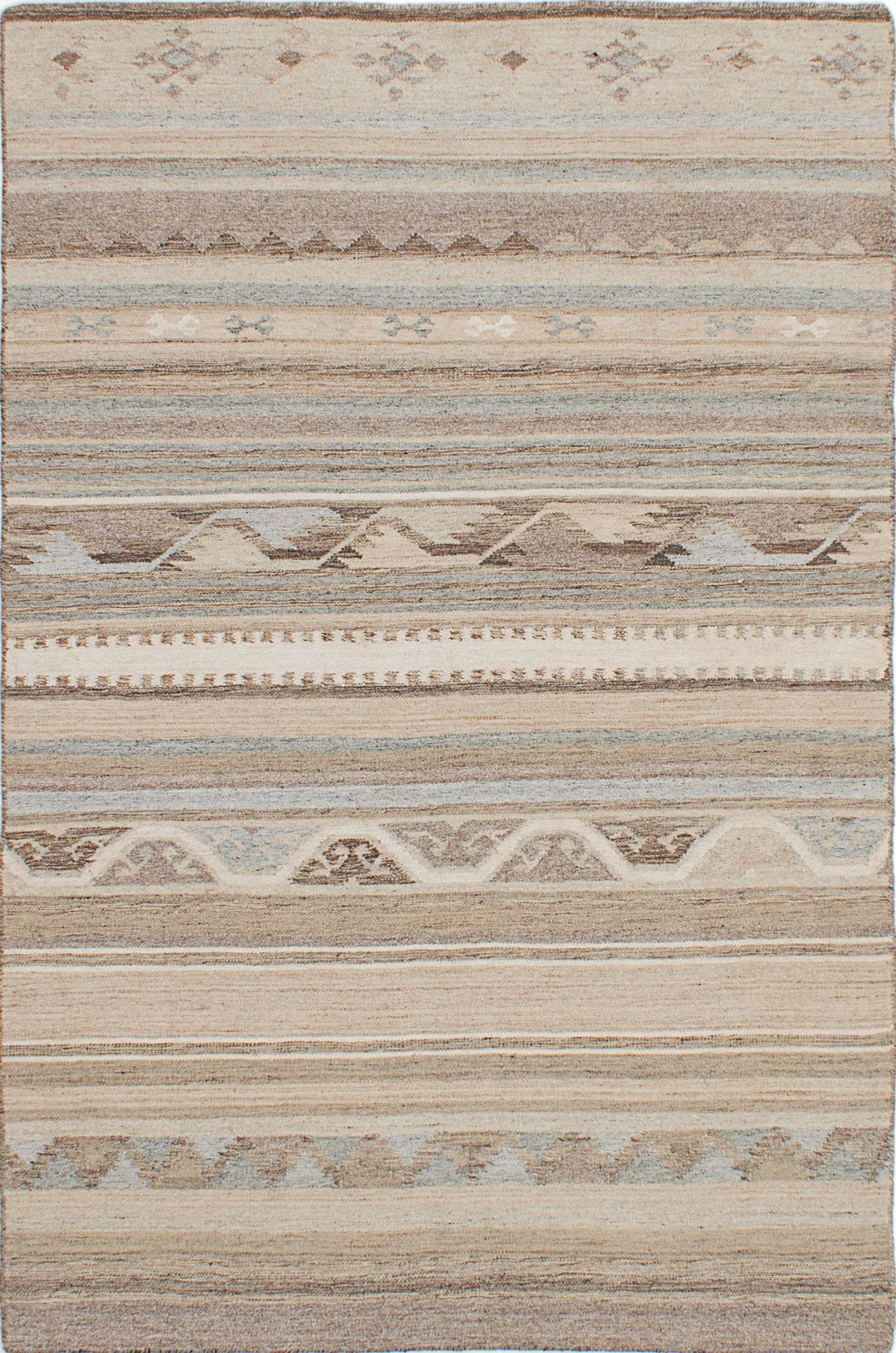 Tribeca Hand-Woven Beige/Brown Area Rug Rug Size: 8' x 10'