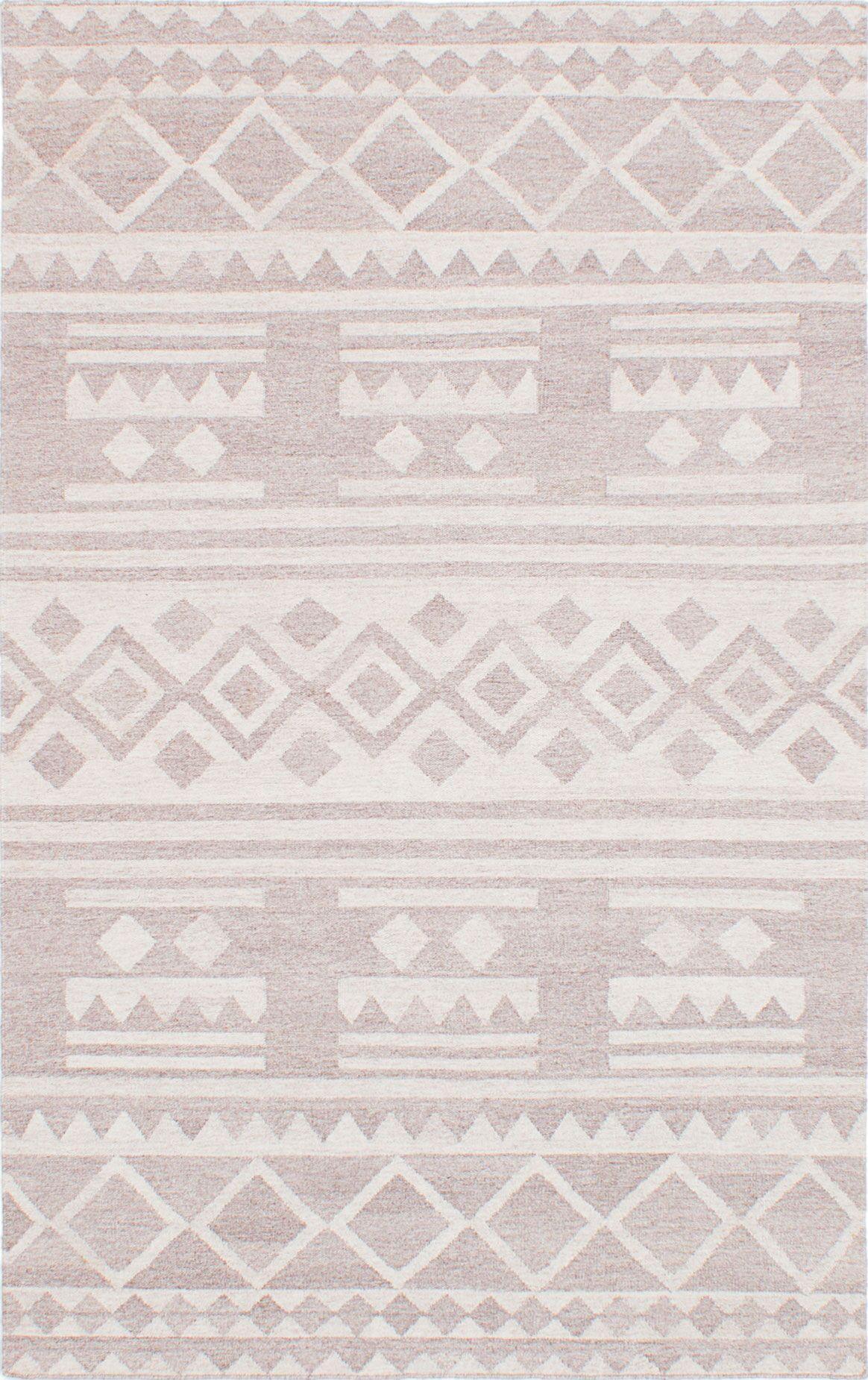 Tribeca Hand-Woven Beige Area Rug Rug Size: 8' x 10'