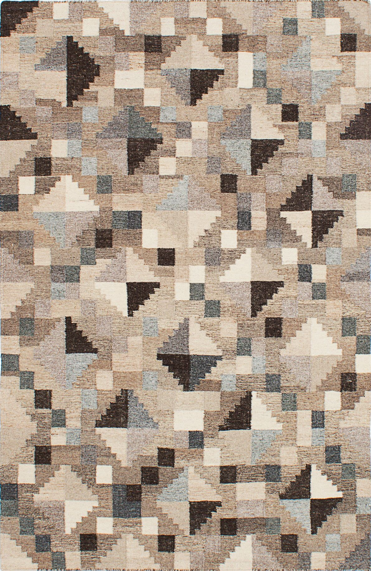 Tribeca Hand-Woven Gray/Brown/Beige Area Rug Rug Size: 4' x 6'