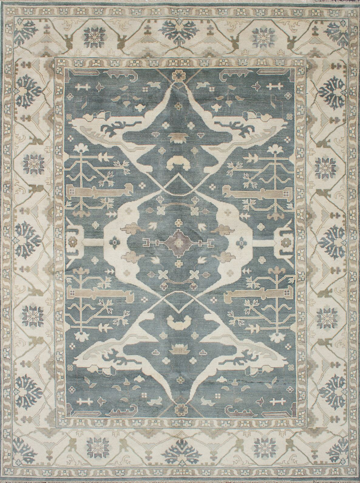 One-of-a-Kind Doggett Hand-Knotted Gray Area Rug