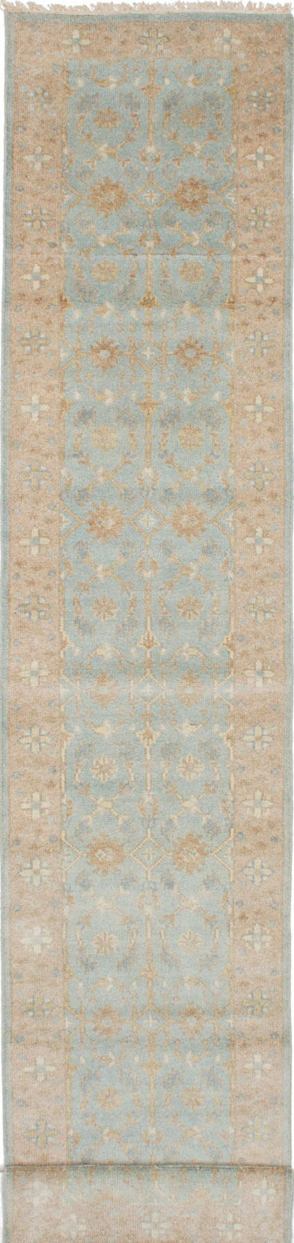One-of-a-Kind Doggett Hand-Knotted Beige/Blue Area Rug