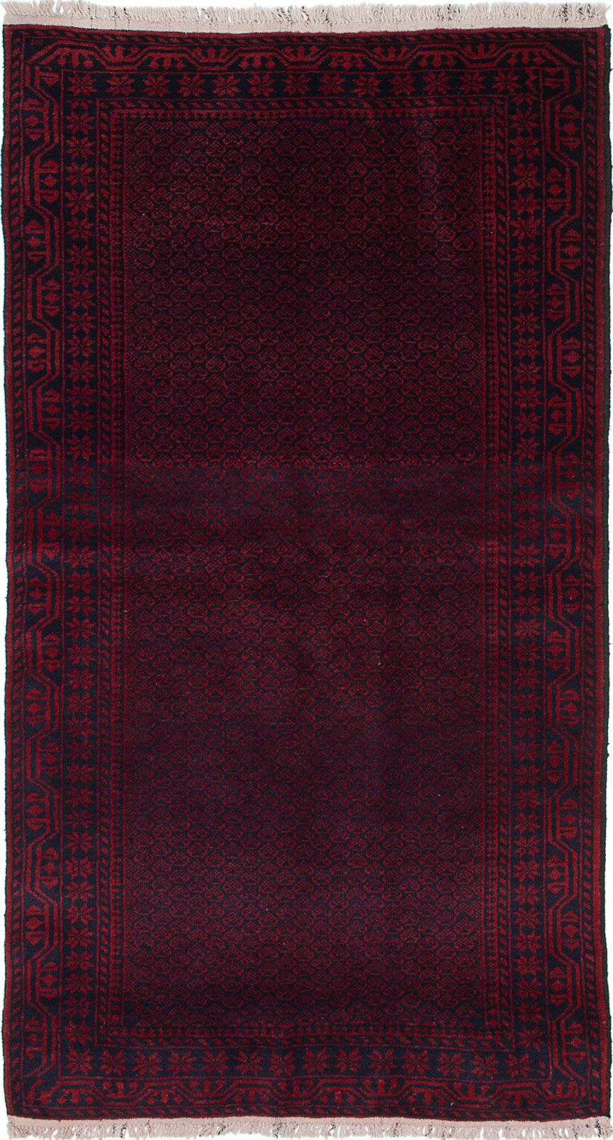 One-of-a-Kind Ditto Hand-Knotted Red Area Rug