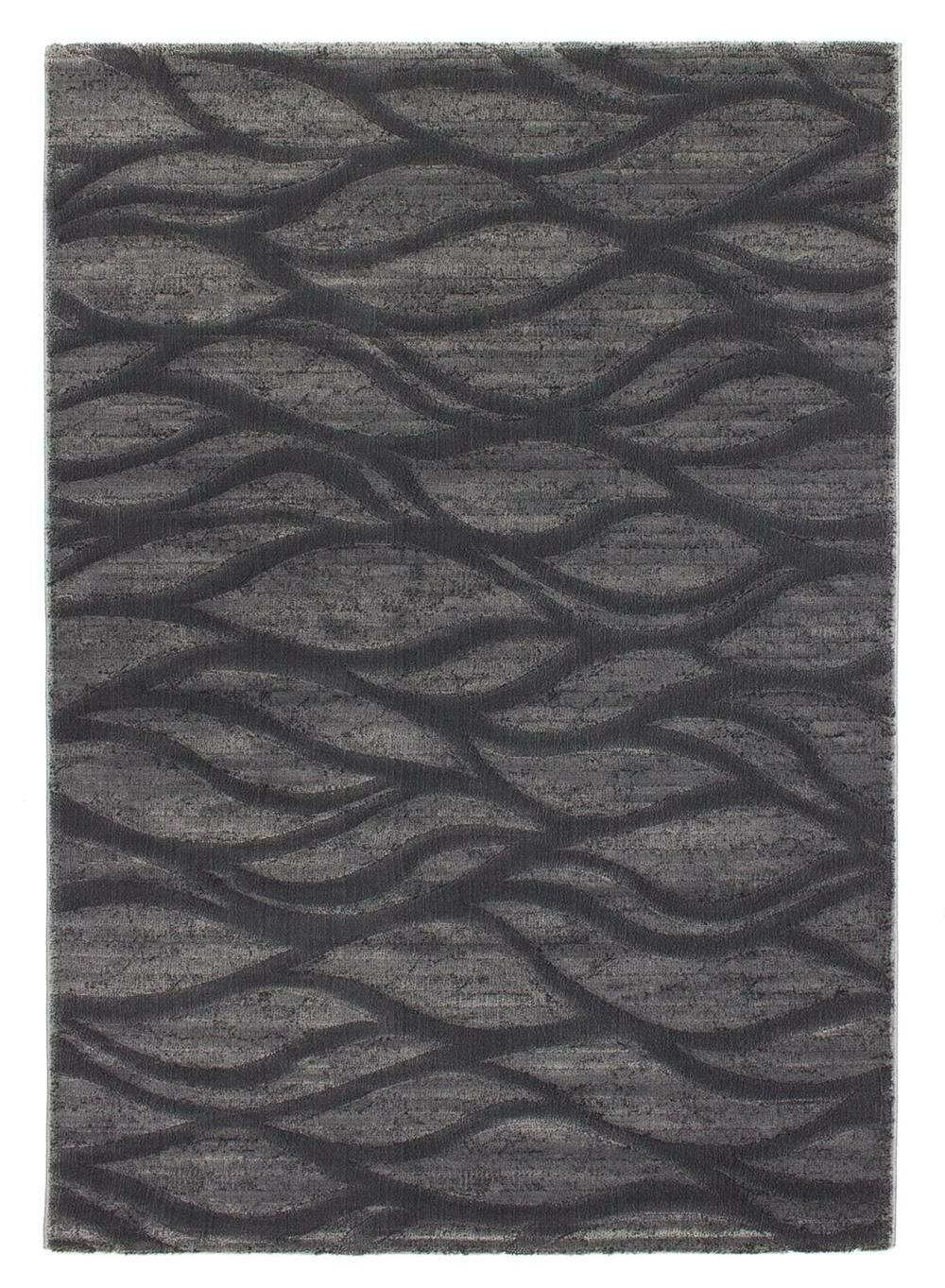 Dorthea Abstract Black/Gray Area Rug Rug Size: 3'11