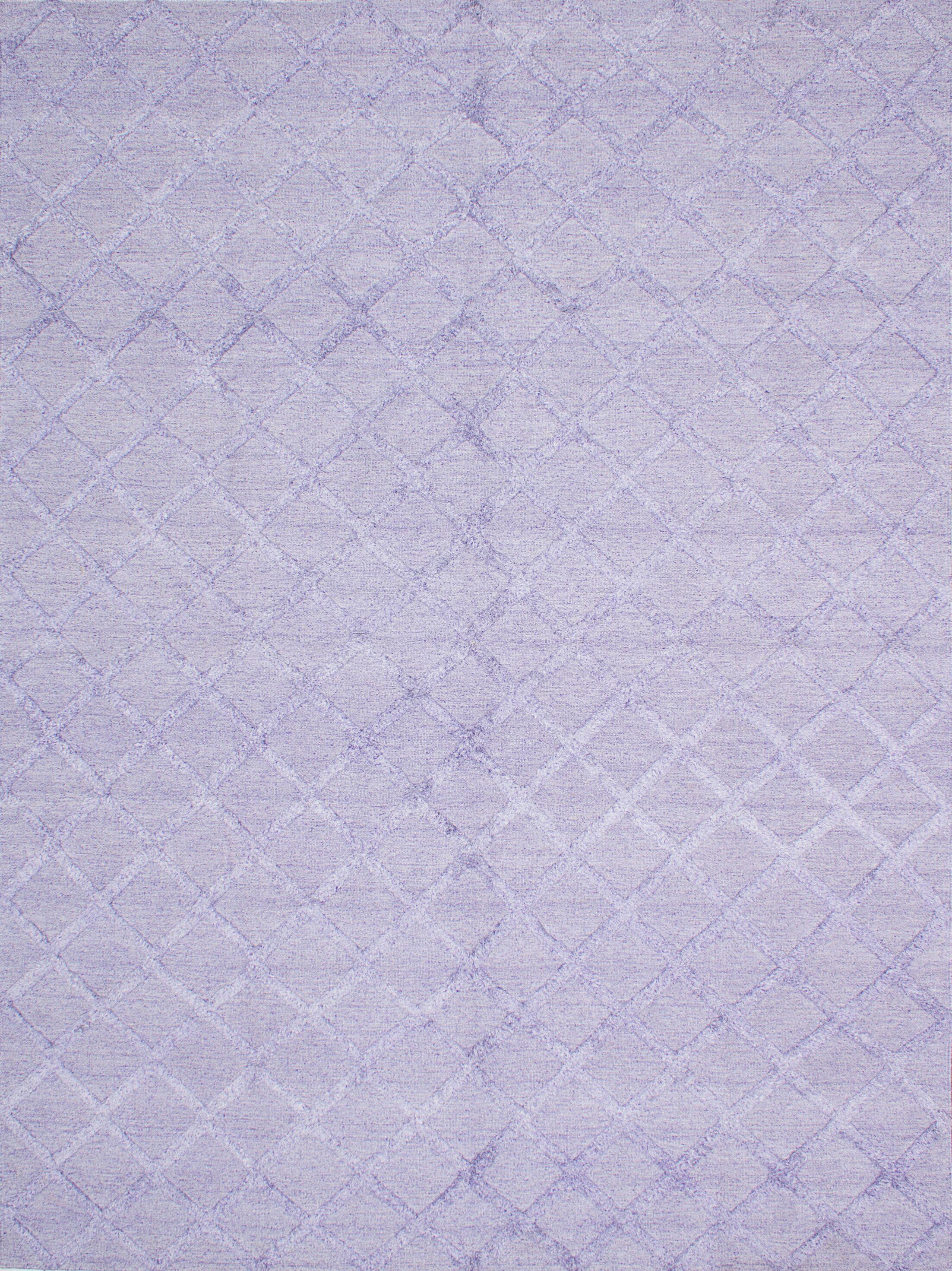Bonefield Kilim Wool Light Violet Area Rug