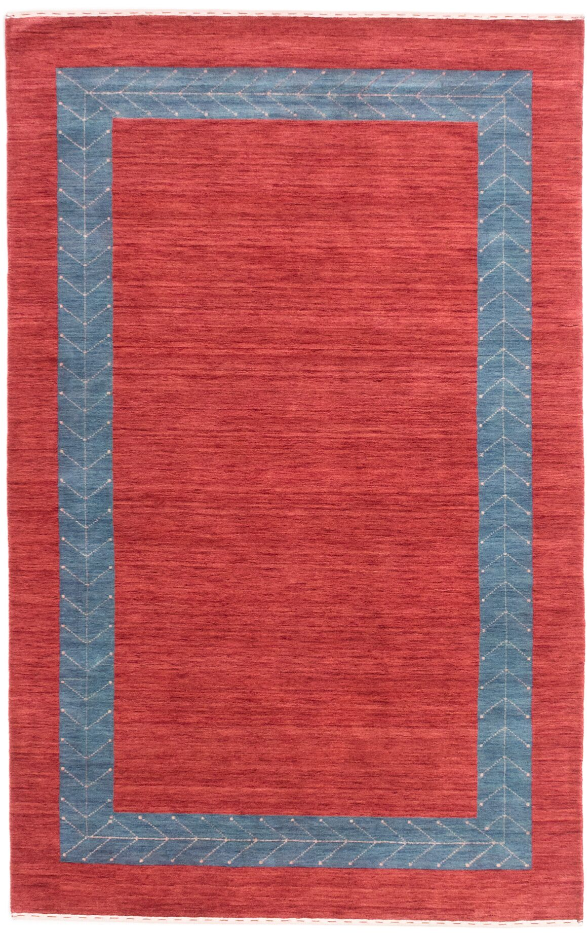 Remy Hand-Knotted Wool Dark Burgundy/Blue Area Rug Rug Size: Rectangle 5' x 8'