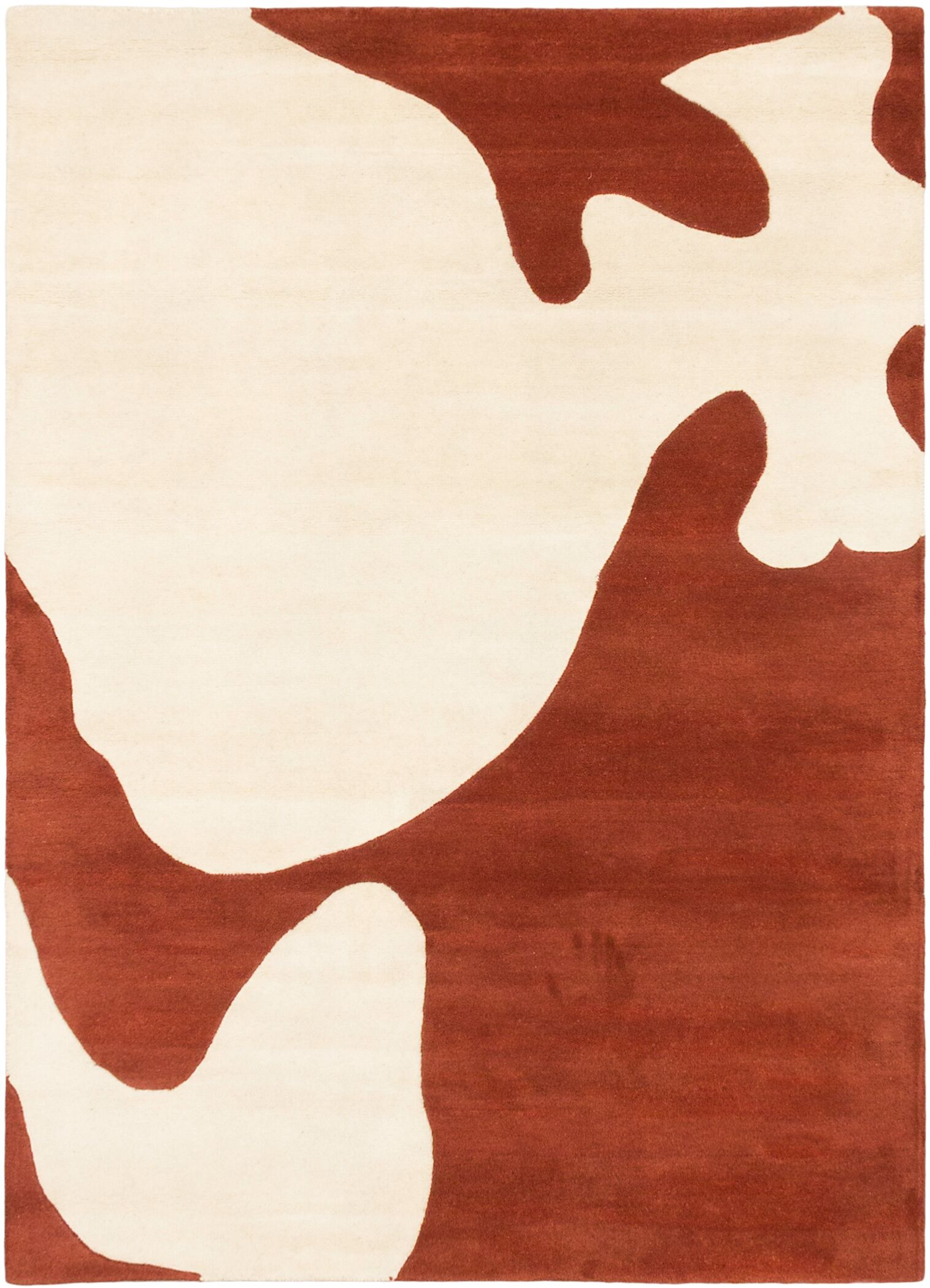 Sandra Hand-Tufted Cream/Dark Copper Area Rug