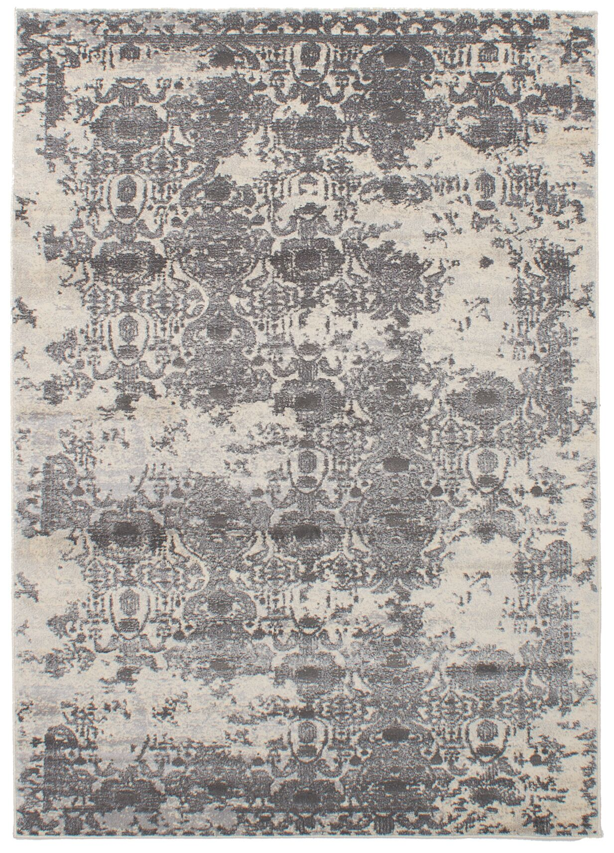 Faustine Gray Abstract Area Rug