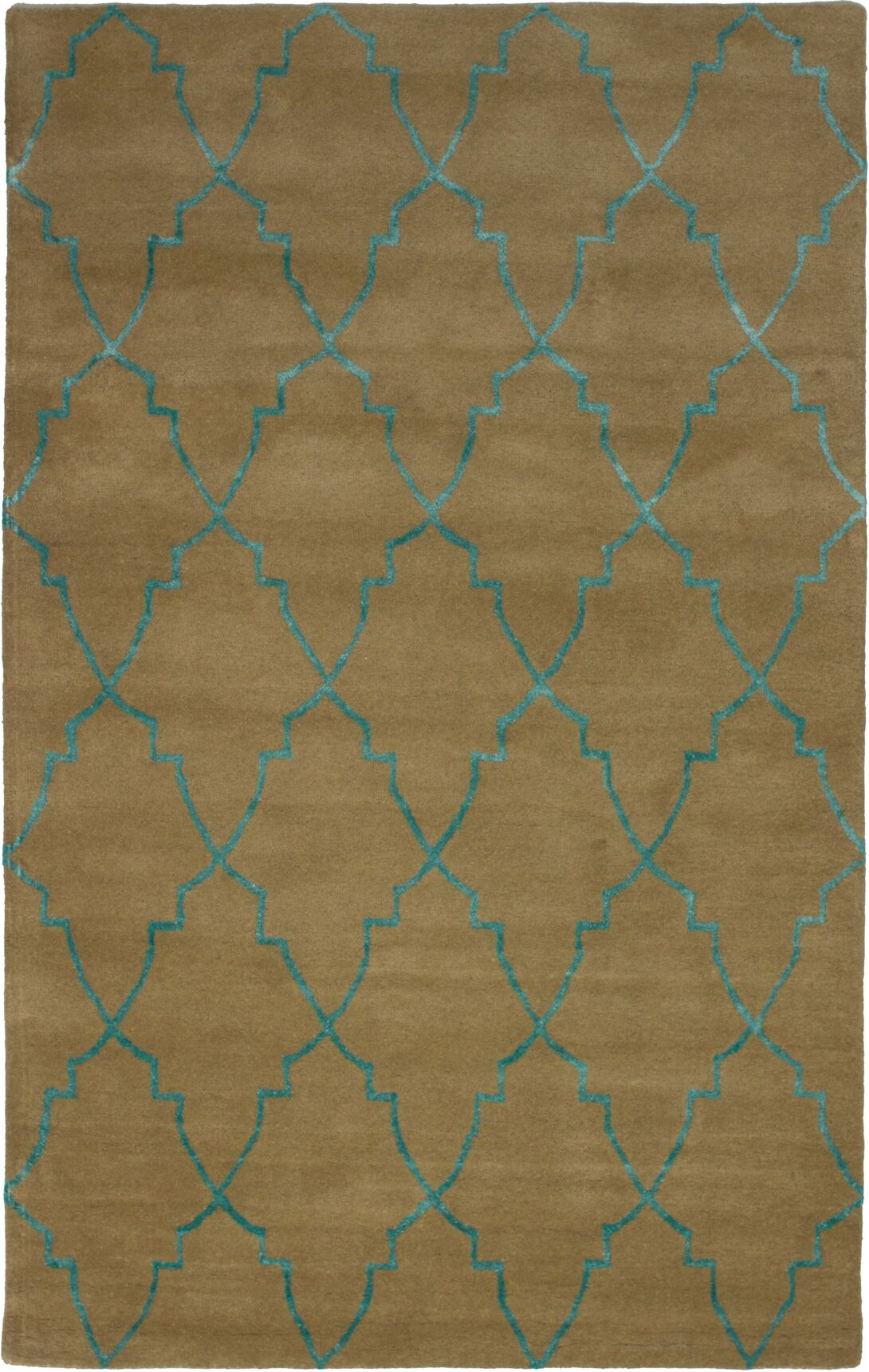 Helsley Hand-Tufted Light Brown Area Rug