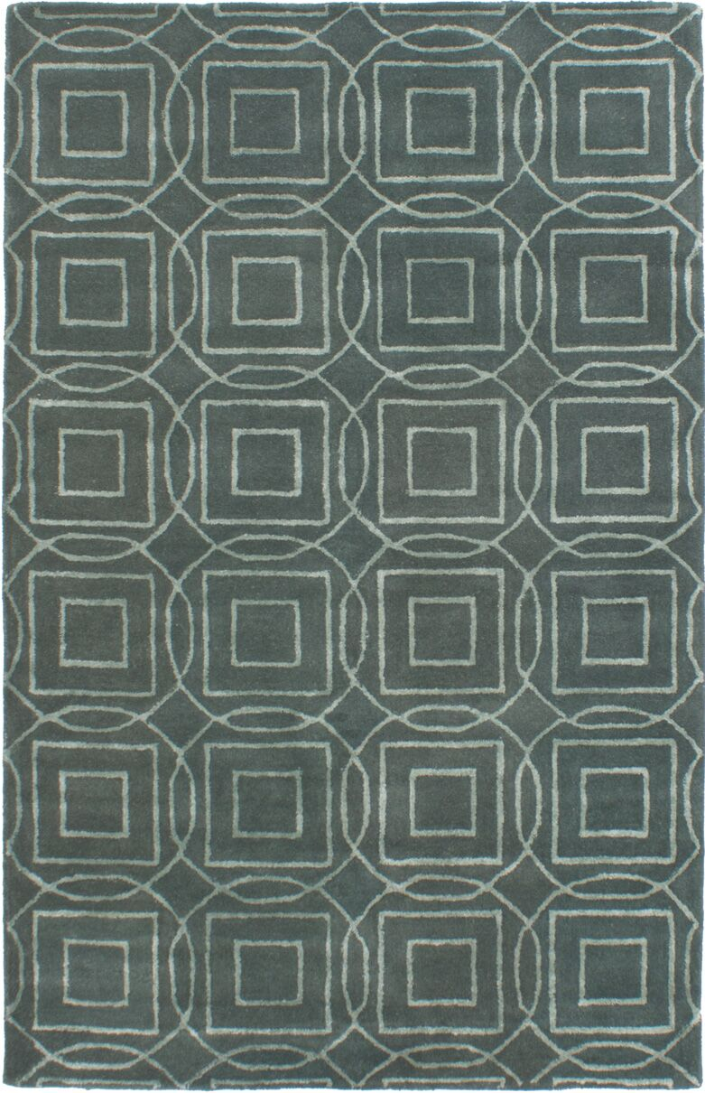 Hardaway Hand-Tufted Teal Area Rug