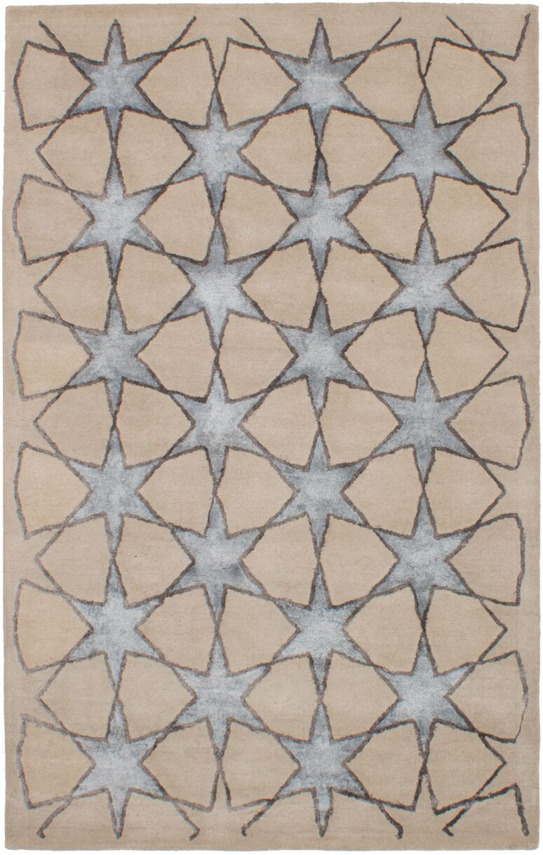 Helton Hand-Tufted Light Khaki Area Rug