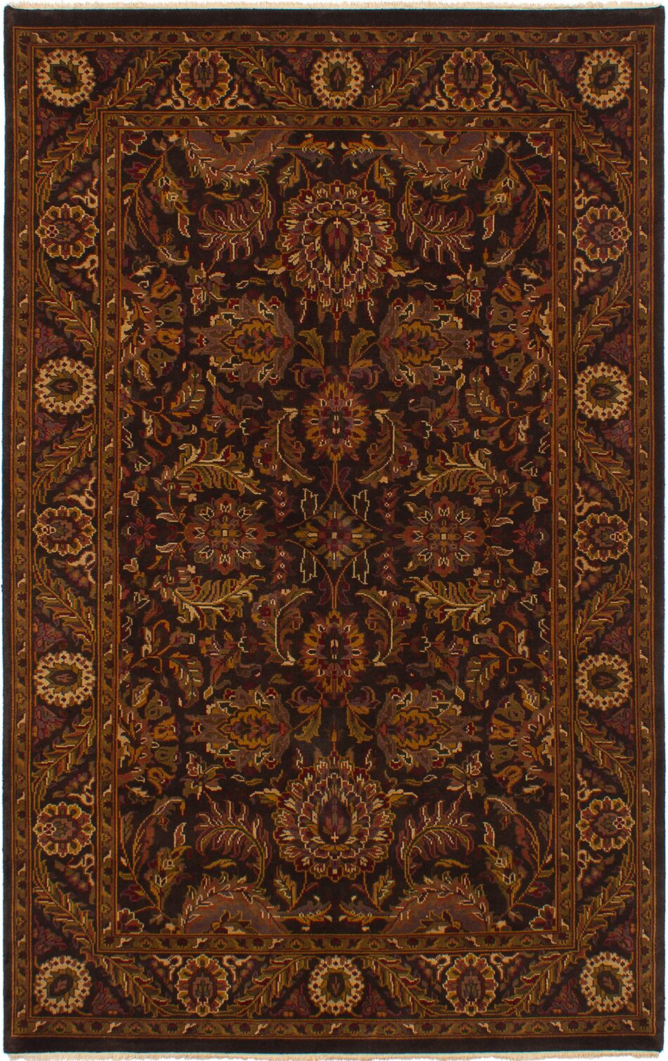 One-of-a-Kind Donley Hand-Knotted Wool Black Area Rug