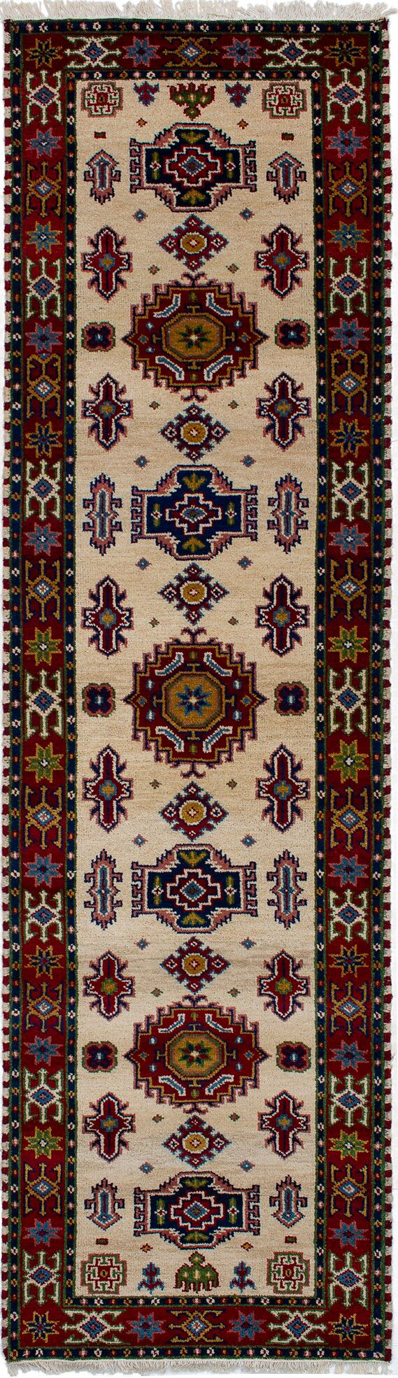One-of-a-Kind Doering Hand-Knotted Wool Cream Area Rug Rug Size: Rectangle 2'9
