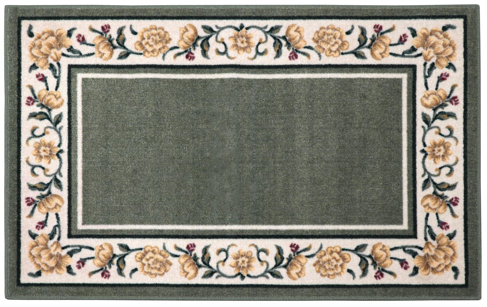Salina Green/Cream Area Rug Rug Size: Octagon 5'