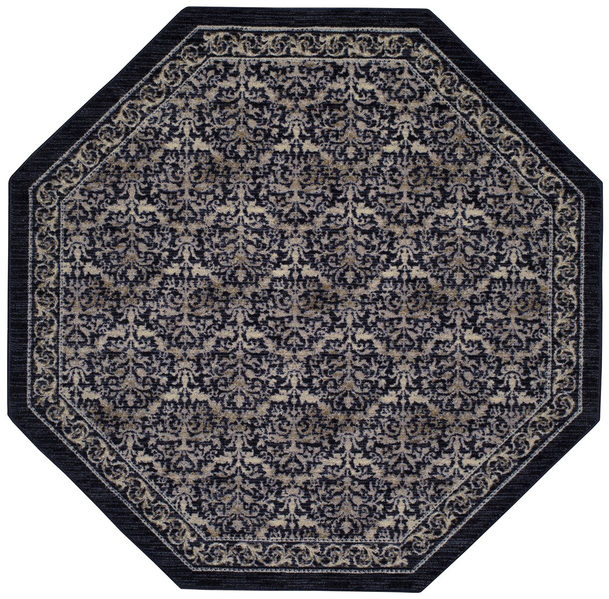 Gustavo Blue/Beige Area Rug Rug Size: Octagon 5'