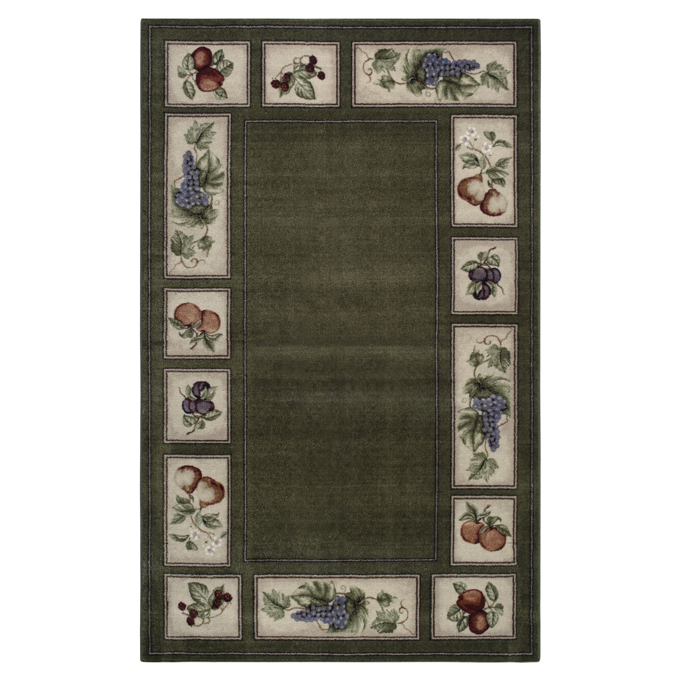 Eden's Bounty Olive/Green Area Rug Rug Size: Rectangle 8' x 10'
