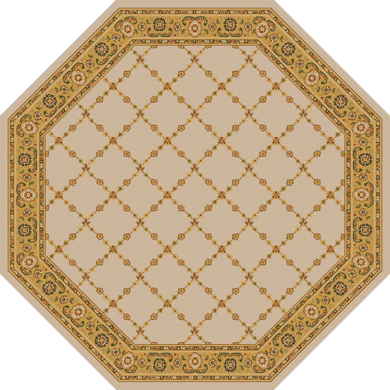 Premier Natural Beige Area Rug Rug Size: Octagon 6'
