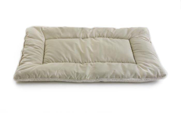 Plush Sleep-ezz Lightweight Dog Bed Crate Pad Color: Khaki, Size: XX-Large (48