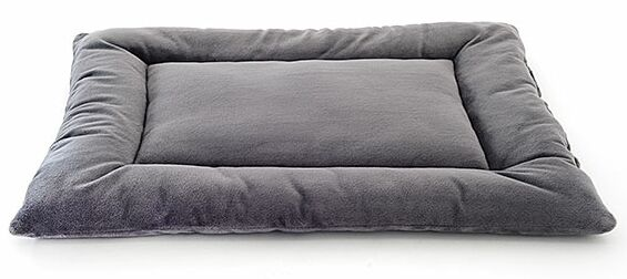 Plush Sleep-ezz Lightweight Dog Bed Crate Pad Color: Graphite, Size: XX-Large (48