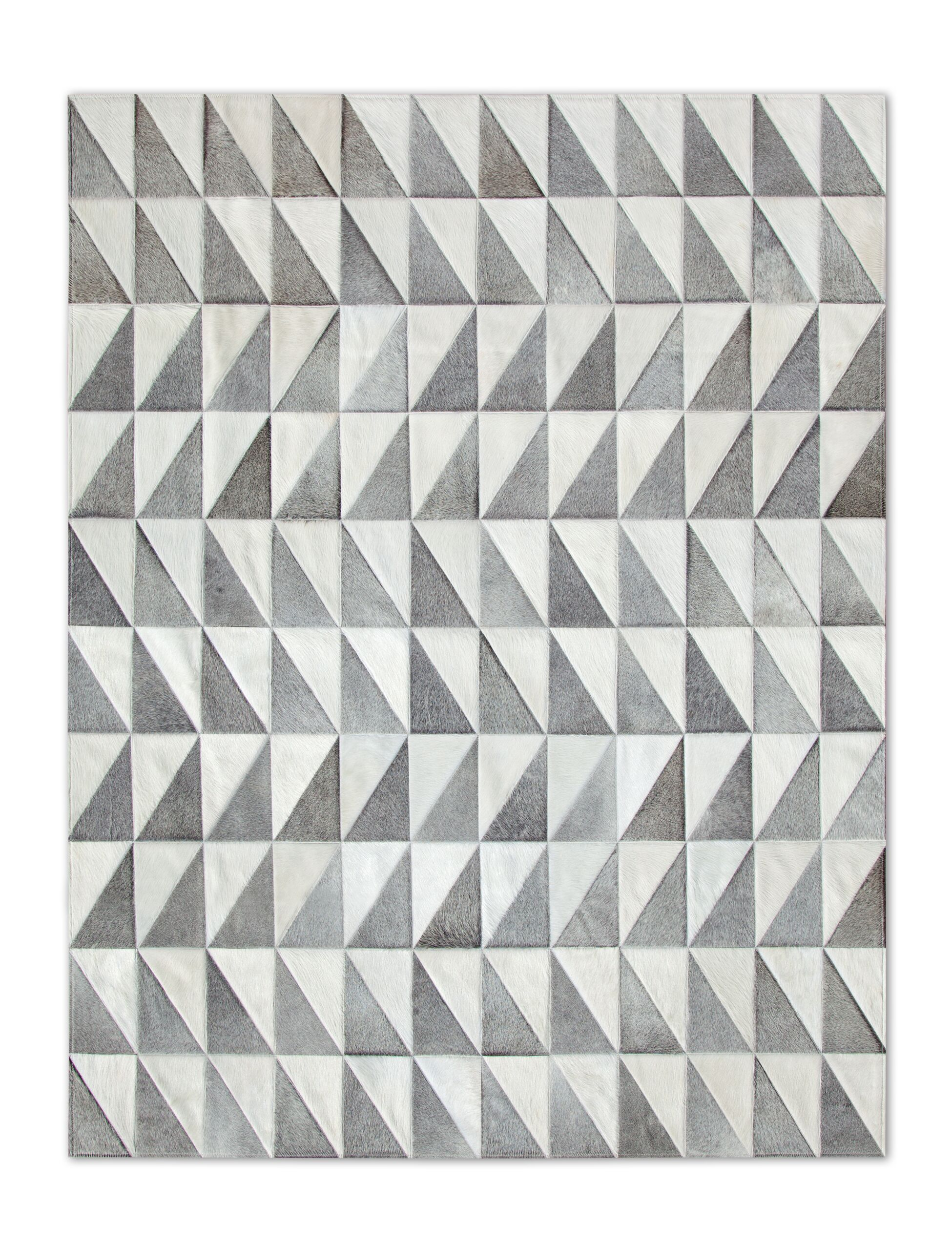 Patchwork Cowhide Gray Area Rug Rug Size: Rectangle 6' x 8'