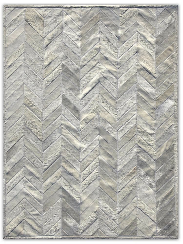 Patchwork Cowhide Yves Ivory Area Rug Rug Size: Rectangle 8' x 10'
