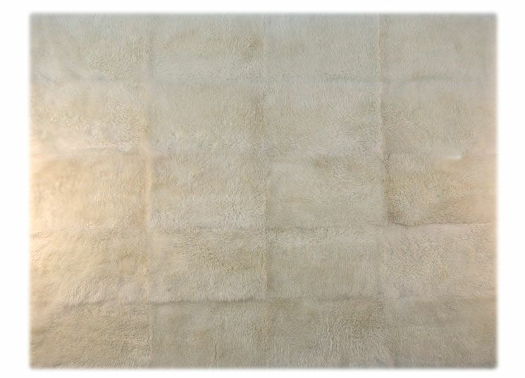 Patagonia Sheepskin Natural Ivory Area Rug Rug Size: Rectangle 6' x 8'