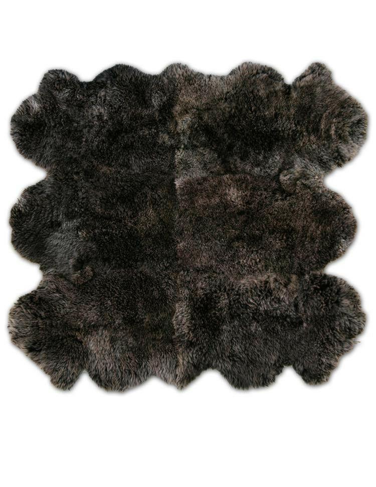 Patagonia Sheepskin Organic Brown Raccoon Area Rug Rug Size: 8' x 8'5