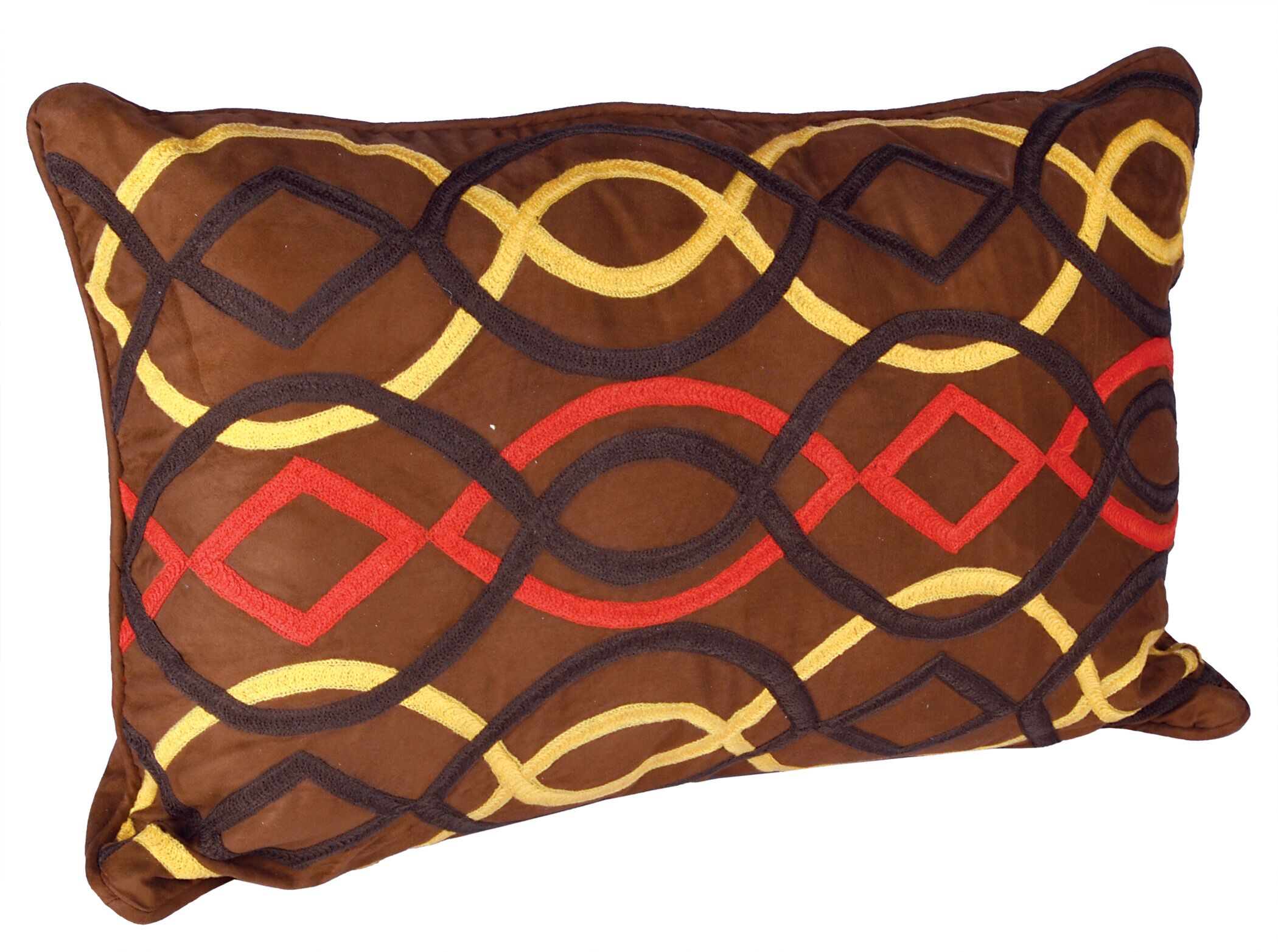 African Embroidery Cotton Lumbar Pillow (Set of 2)