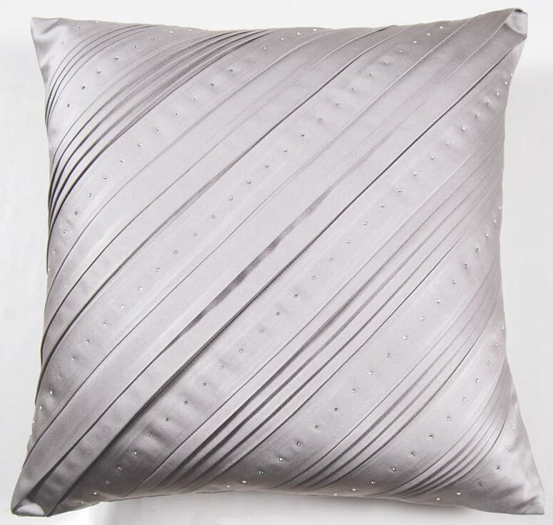 Dazzling Celtic Swarovski® Throw Pillow Color: Gray