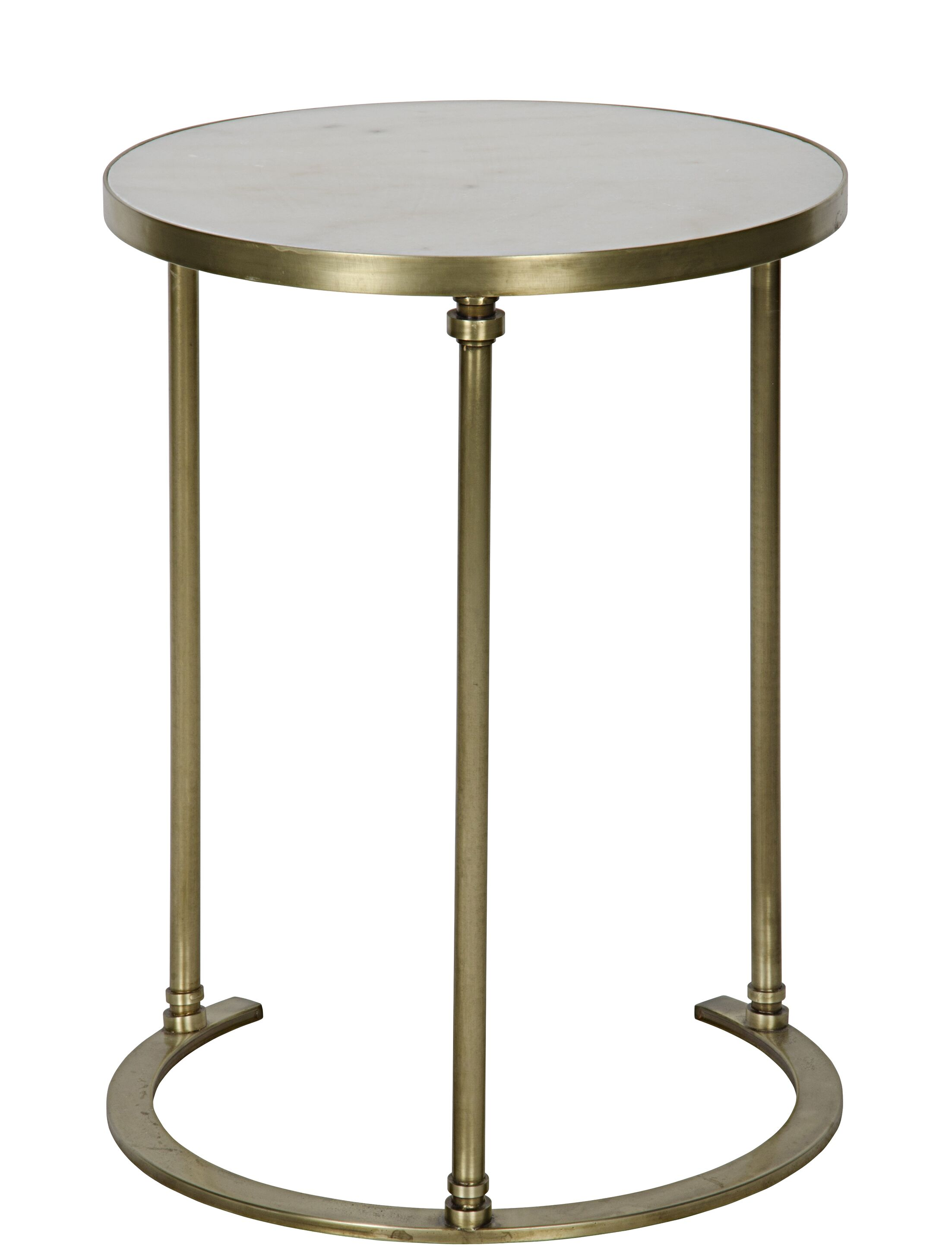 Molly End Table Color: Antique Brass