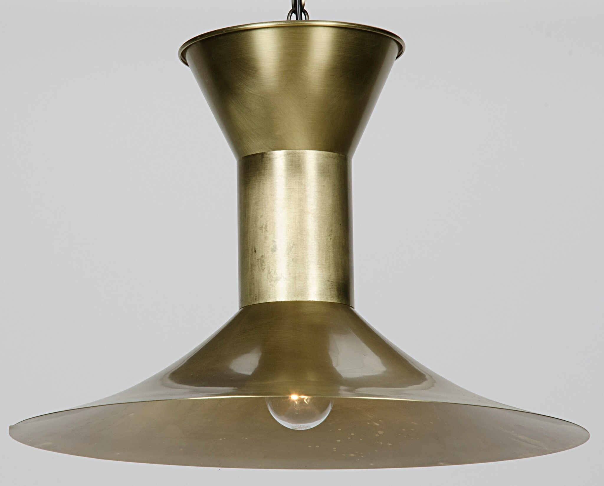 1-Light Cone Pendant Finish: Antique Brass