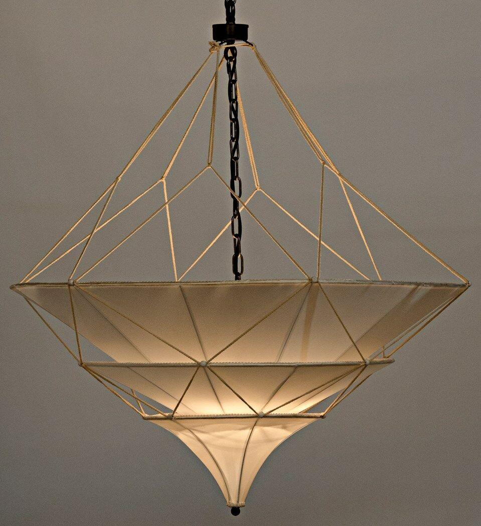 Dynasty 4-Light Geometric Chandelier Size: 44