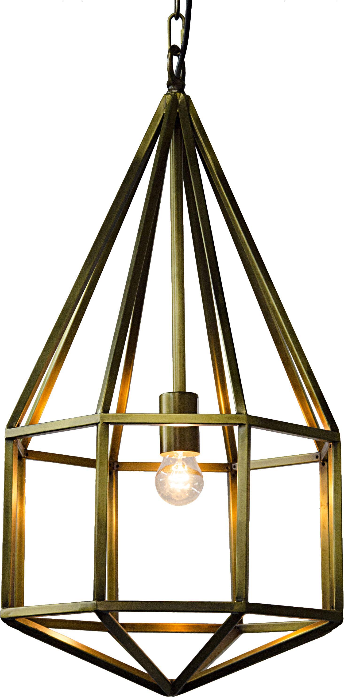 Diamond 1-Light Geometric Pendant Size: 25.5
