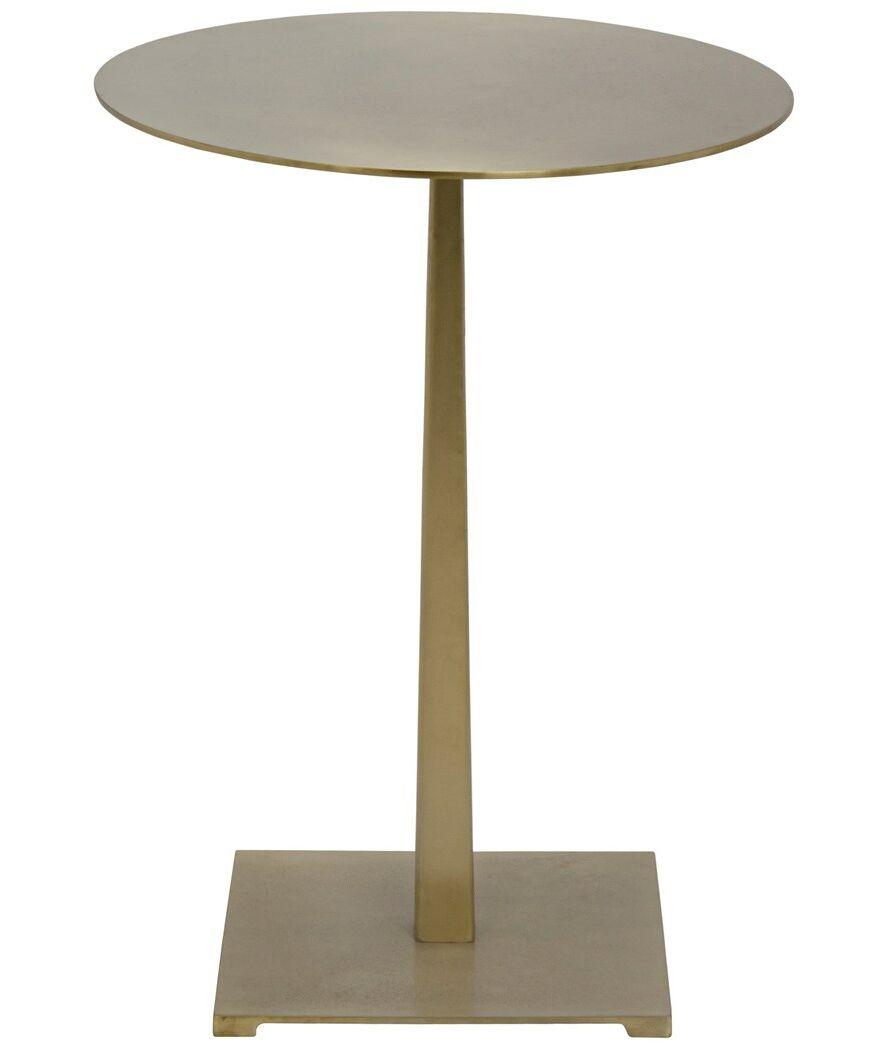 Stiletto End Table Color: Antique Brass