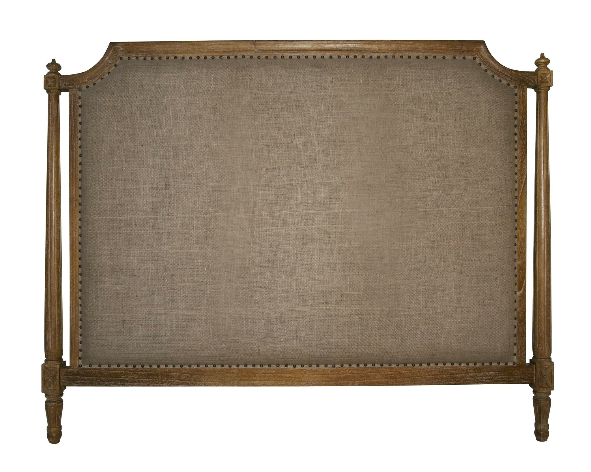 Isabelle Upholstered Panel Headboard Color: Gray Wash, Size: California King