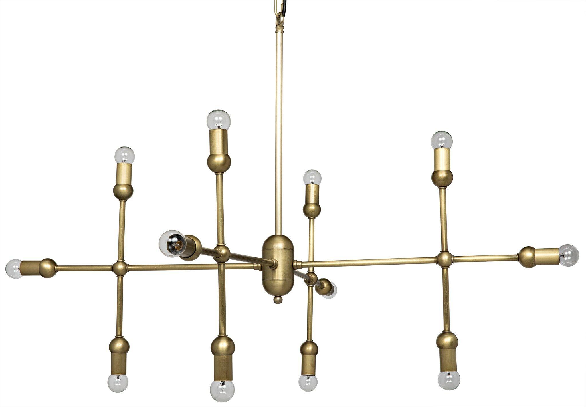Crossover 12-Light Chandelier Finish: Antique Brass