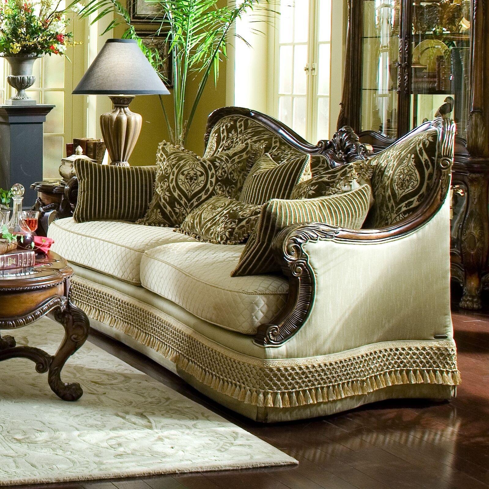 Chateau Beauvais Sofa Upholstery: Gold