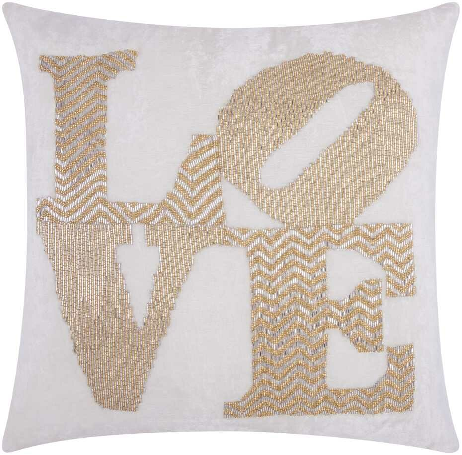 Luminescence Throw Pillow Color: Silver Gold