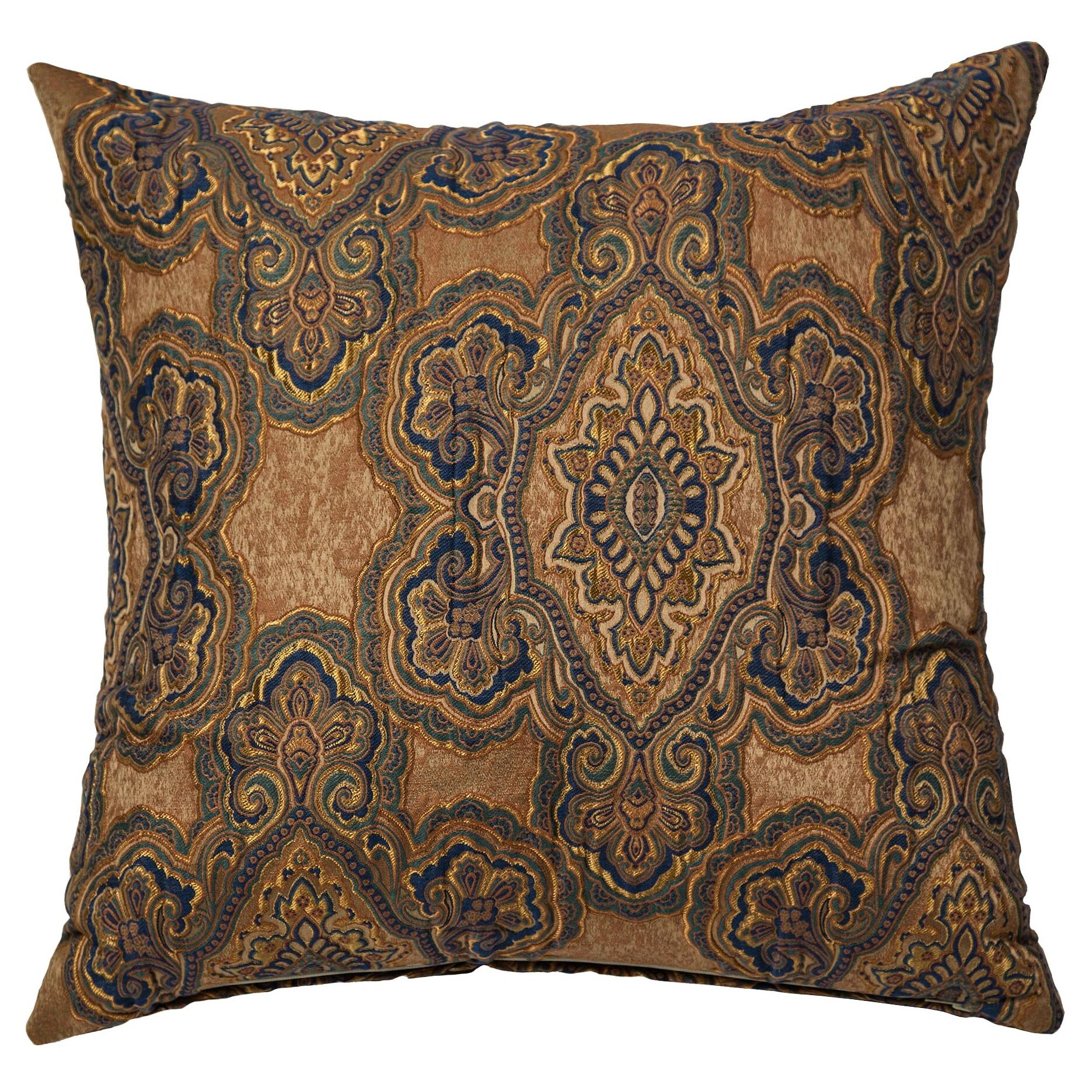 Evans Throw Pillow Color: Copper
